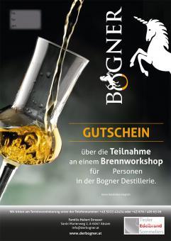 Brennworkshop mit Mitnahme des Destillats (330 ml Flasche)  in der Destillerie Bogner